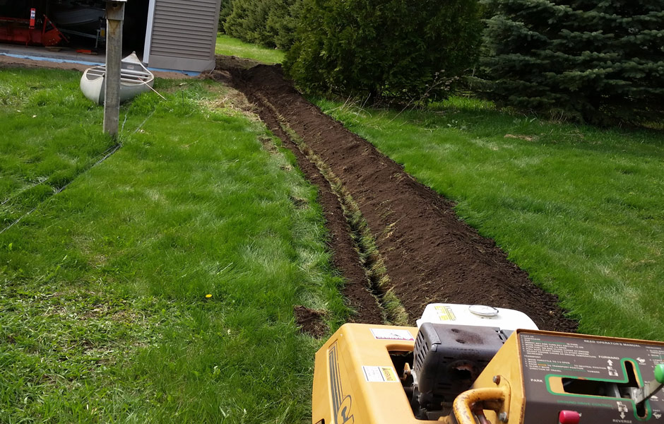 Trenching-Power-to-Detached-Garage